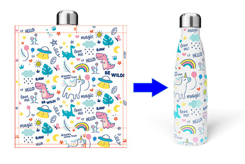 custom water bottle transfer printing