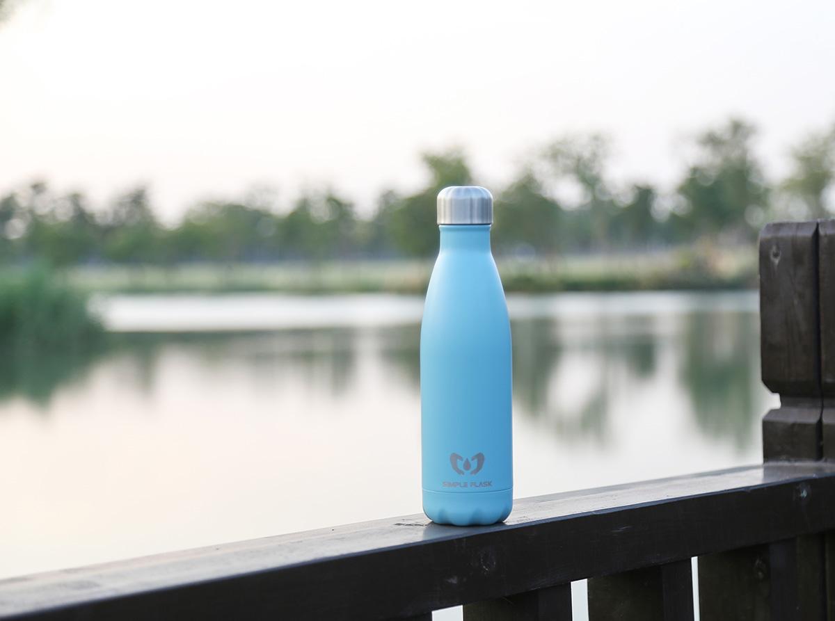 Simple Flask cola shaped drink bottle