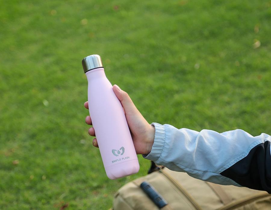 simple flask drink bottle 17oz